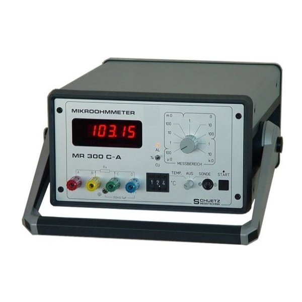 <h5>MR 300 C-A</h5><strong>For extremely low impedance objects.</strong><br/><br/>Highly accurate resistance measurements at extremely low impedance objects such as cables, contacts, fuses, power connections, graphite, coal as well metal samples...