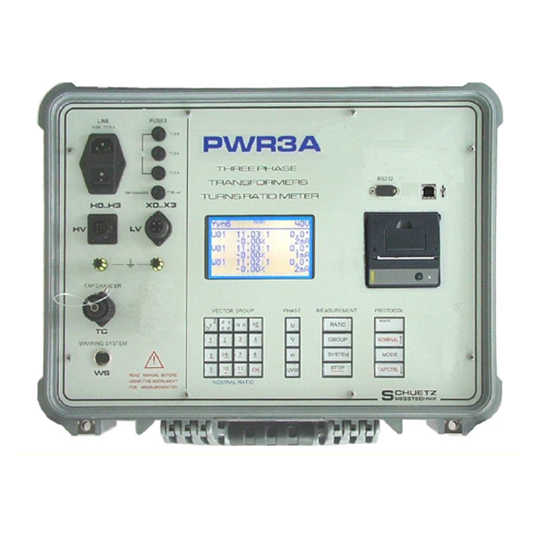 <h5>PWR 3A</h5><strong>Full automated high precision transformers turns ratiometer.</strong><br/><br/>Can be expanded for Capacitive Voltage Transformers Tests. The great advantage of the PWR3A compared to many of the other instruments on the market is its simple set-up.