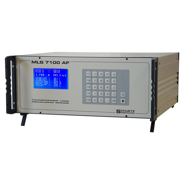 <h5>MLS 7100</h5><strong>transformer loss measuring bridge</strong><br/><br/><br/>This power meter specially adapted for the measurement of transformers, which greatly simplifies the determination of losses - even in field measurements.