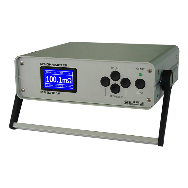 <h5>MR 2212 W</h5><strong>for accumulators, fuel cells, batteries, separators</strong><br/><br/>The MR 2212 W measures the interior resistance of objects with a natural voltage, including batteries, fuel cells, accumulators, separators and power racks.