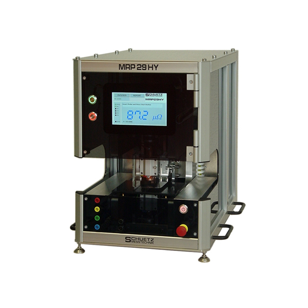 <h5>MRP 29 HY</h5><strong>Measurement of the surface quality of metal sheets</strong><br/><br/>The surface quality and effectiveness of coatings of metal sheets, can be determined with the MRP29HY resistance measuring system according to DVS 2929.